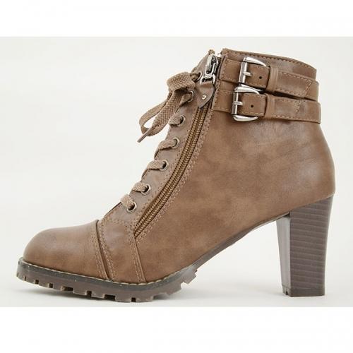 装饰矮腰靴7cm棕色